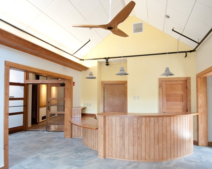 Visitor Greeting area renovated