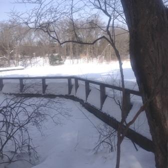 boardwalk w snow