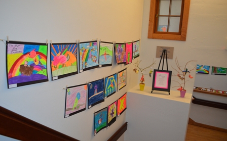 2015 March-April Pine Hill grade 3 realistic bird sculptures and imagination bird pastels (1)