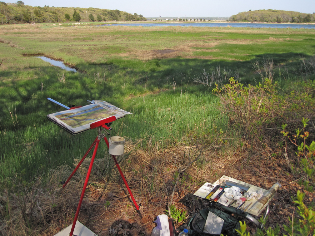 Painting Set-up at Great Neck