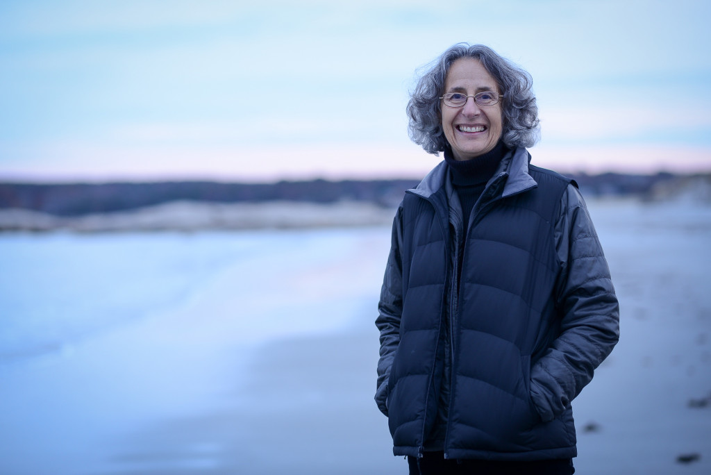Deborah Cramer, author, at Wingersheek Beach in Gloucester, MA, November 13, 2014. © 2014 Shawn G. Henry • 978.590.4869