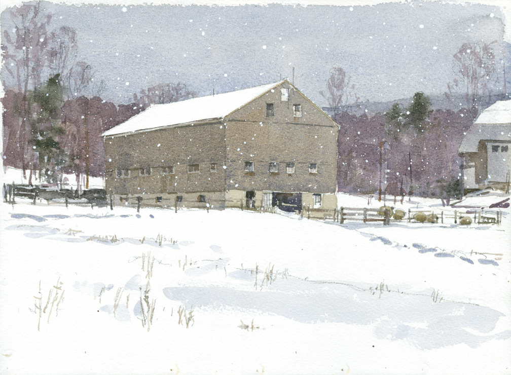 Horse Barn, Wachusett Meadow - w SNOW - at 72 dpi