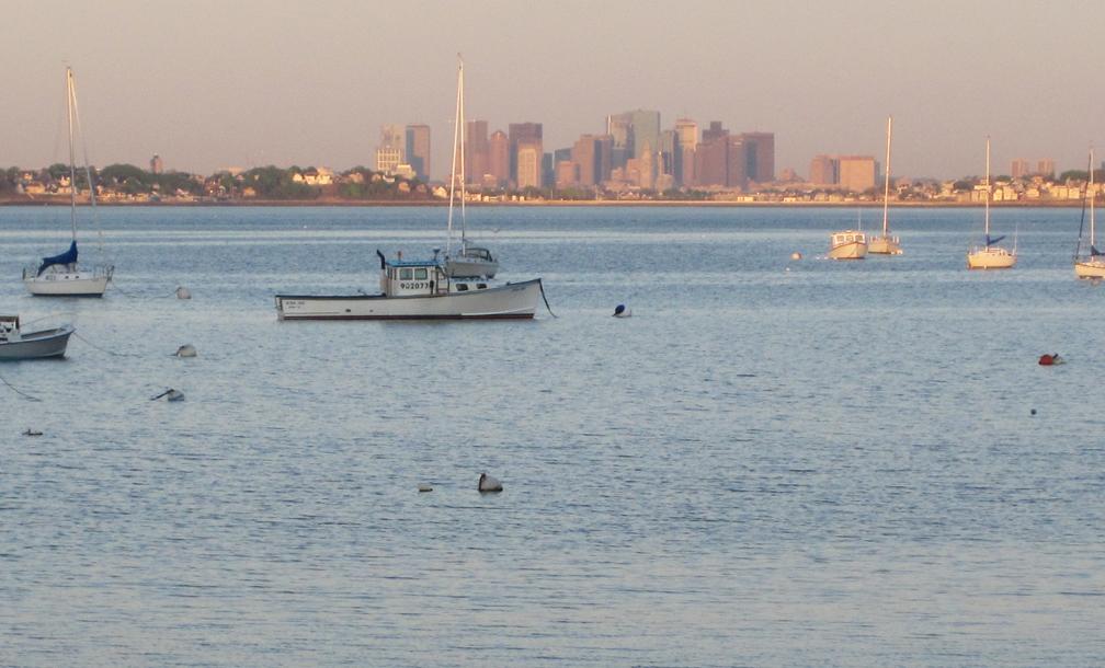 Boston at Dawn from Nahant - at 72 dpi