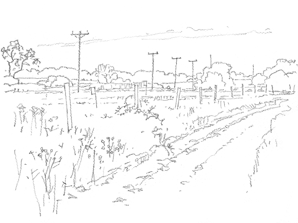 View Toward Fox Hill, drawing - at 72 dpi