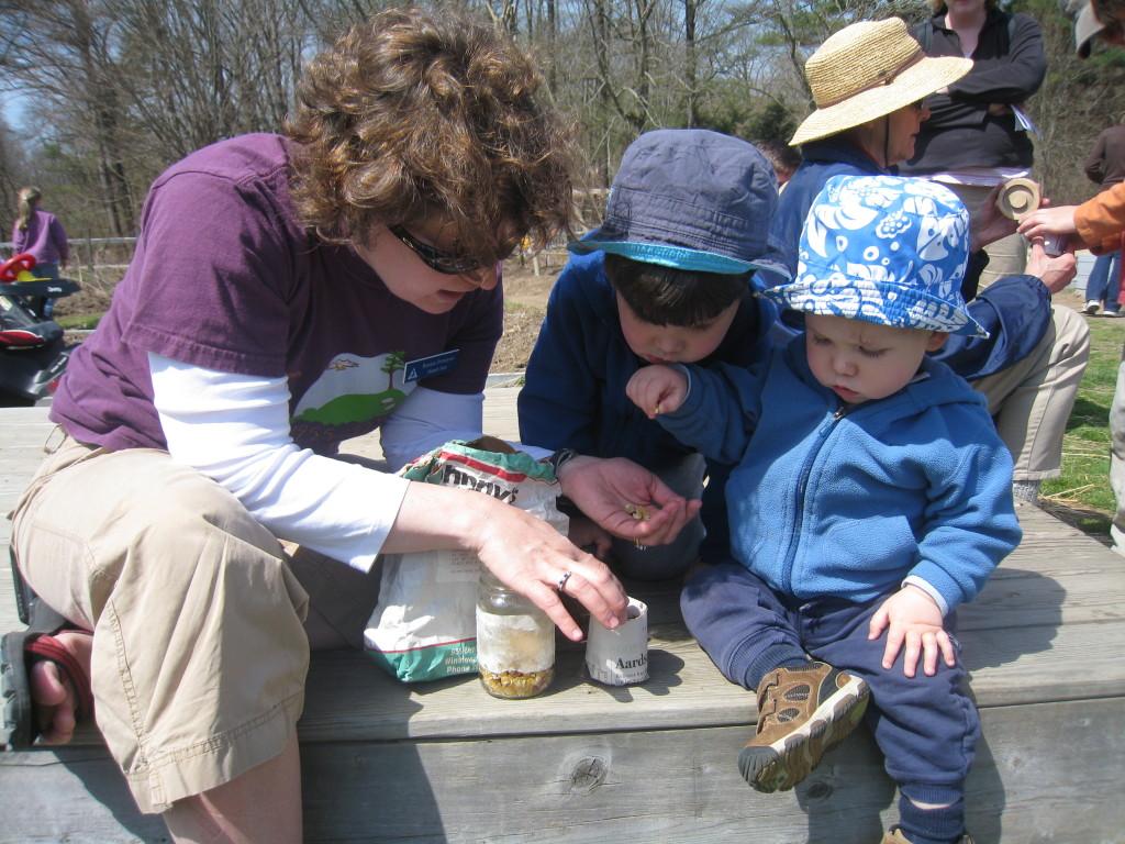 Drumlin Farm Sanctuary Director Renata Pomponi and her children