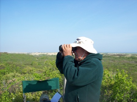 Don Manchester scans the horizon for spring migrants