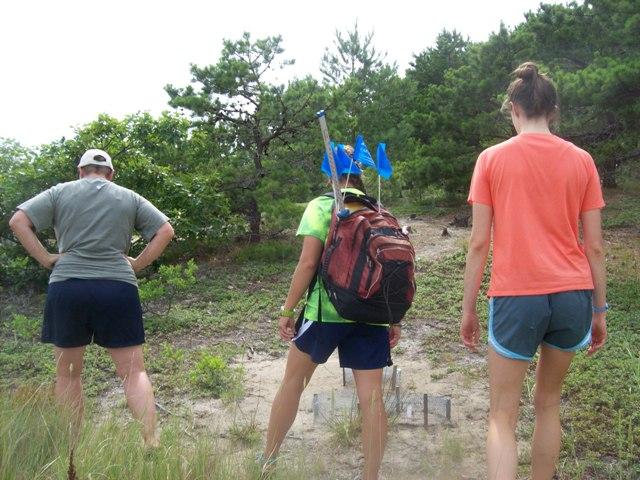 Checking for late season nests on Lieutenant Island