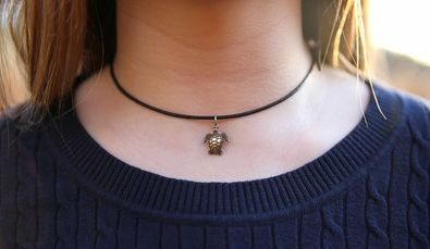 TideTogether's sea turtle necklace