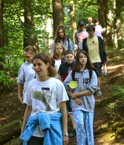 A group enjoying a nature walk