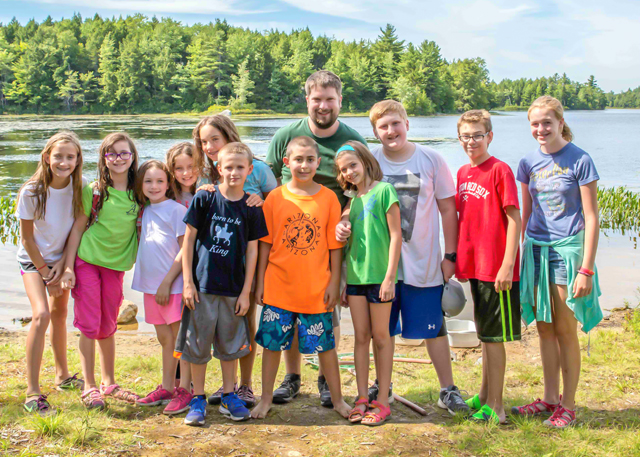 Wildwood Camp Director Welch Narron with campers