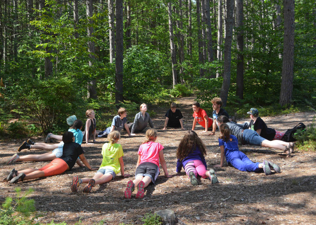 Group Yoga at Wildwood Overnight Camp