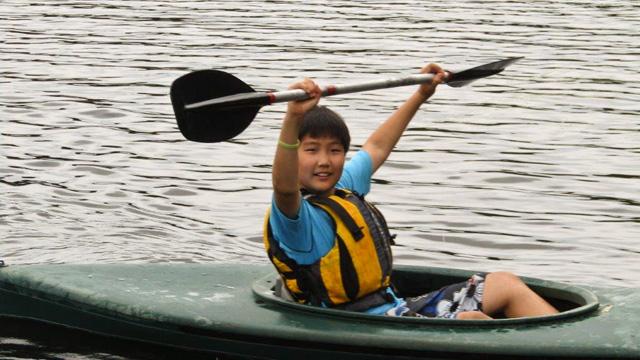 Kayaking Fun at Wildwood Overnight Camp!