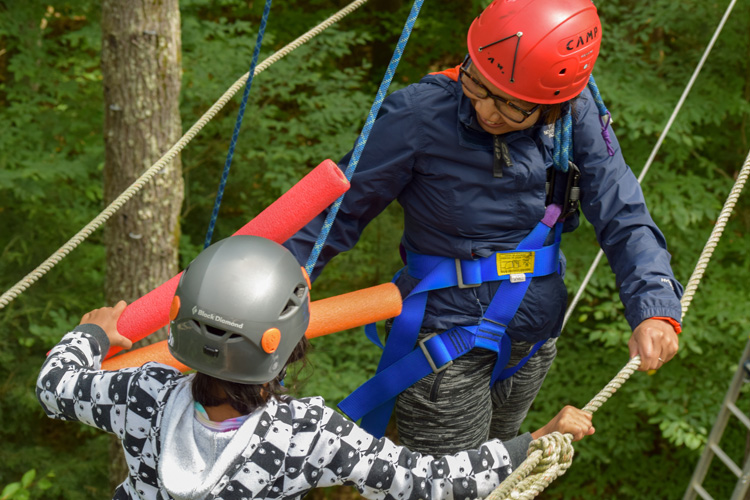Wildwood's High Ropes Challenge Course at Family Camp
