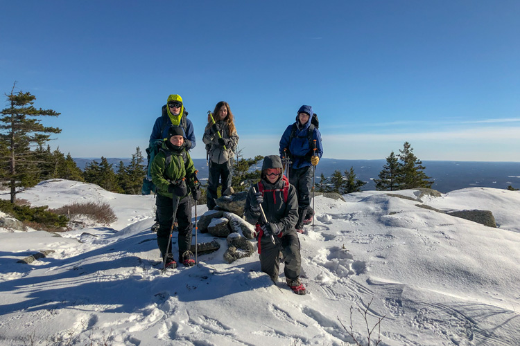 Wildwood Winter Camping Monadnock Summit Group Photo