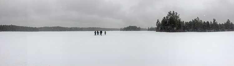 Hubbard Pond Winter Panorama
