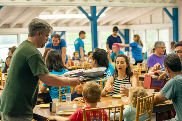Family-style Dinner at Family Camp