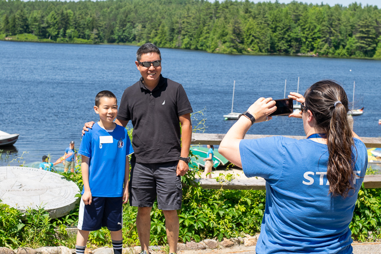Photo Op at Hubbard Pond