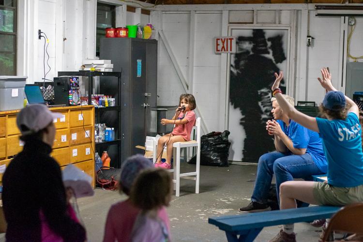Karaoke in the Arts & Crafts building