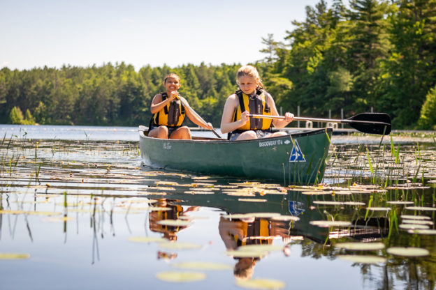 Canoeing on Hubbard Pond