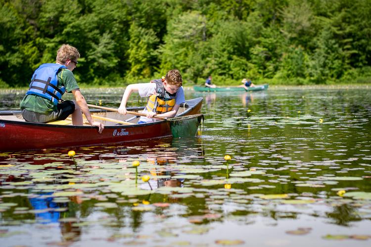 Ponding by canoe