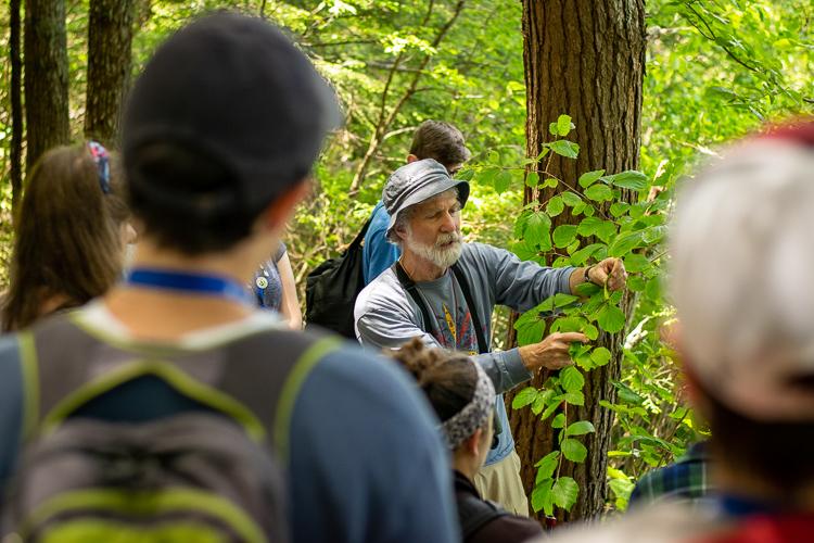 Regional Scientist Robert Buchsbaum leads a Plant ID class