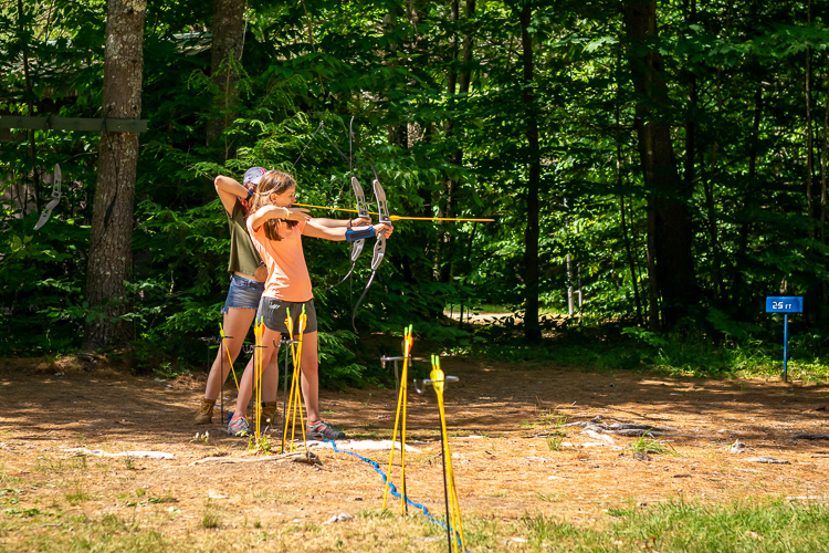 Grace is a terrific archery instructor