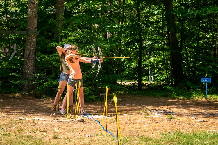 Grace is a terrific archery instructor