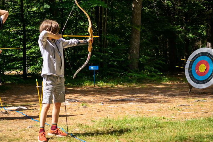 Practicing on the Archery Range