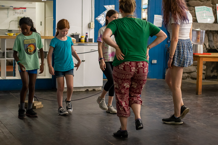 These campers are learning the basics of tap dance!