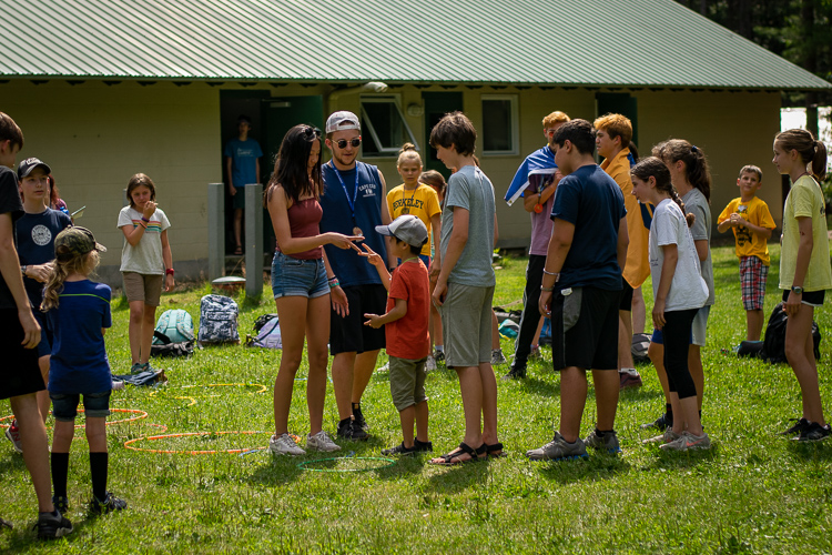 Two campers face off in Rock Paper Scissors Races