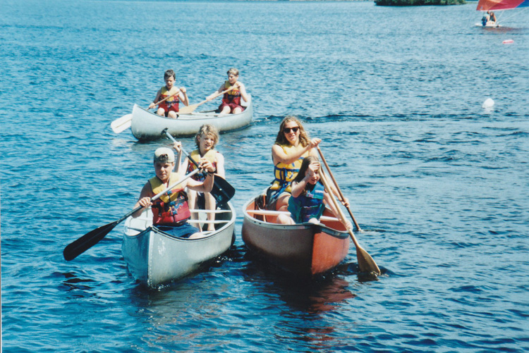 Canoeing at Wildwood circa 1996 or 1997