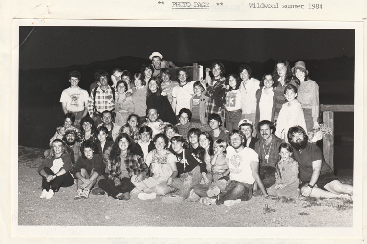 Wildwood Group Photo, black and white, circa 1984