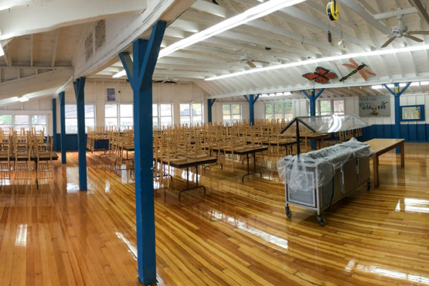 Wildwood Dining Hall with Refinished Floors