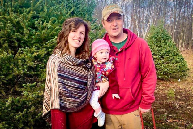 Wildwood Caretakers Stephanie and Collin Tourgee with their daughter, Eva
