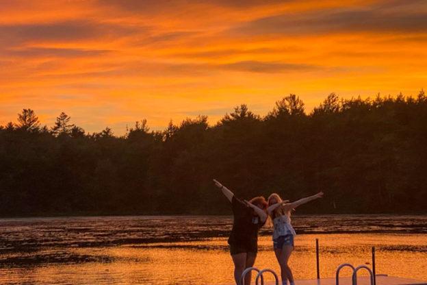 Sunset on Hubbard Pond