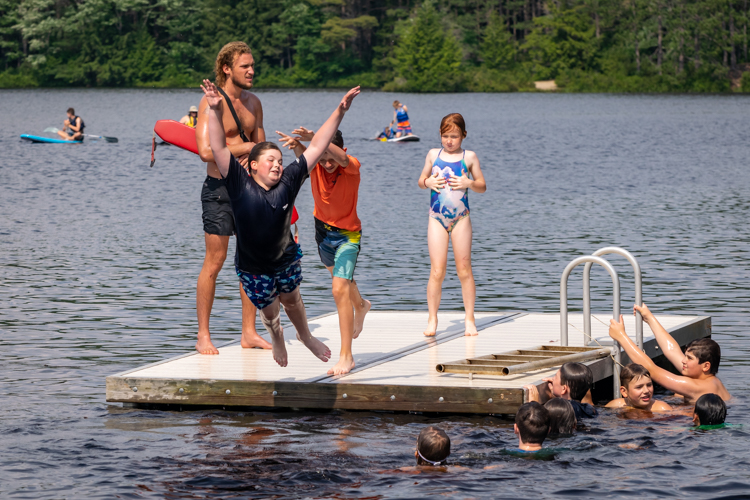 As far as consolation prizes go, jumping in the water isn't such a bad one!