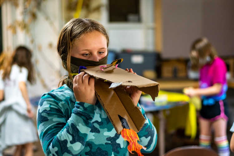 Mask-making during afternoon DGs