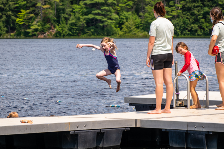 Day Campers love swimming at the waterfront