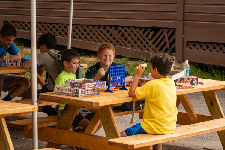 Camp days are busy, so sometimes a chill game of Connect Four is just the ticket