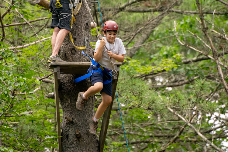 Taking the big leap from the zipline platform