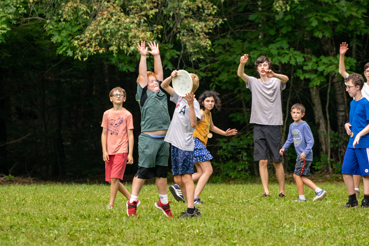 Ultimate Frisbee on the activity field