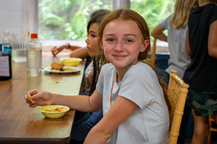 Carson unit enjoying lunch together