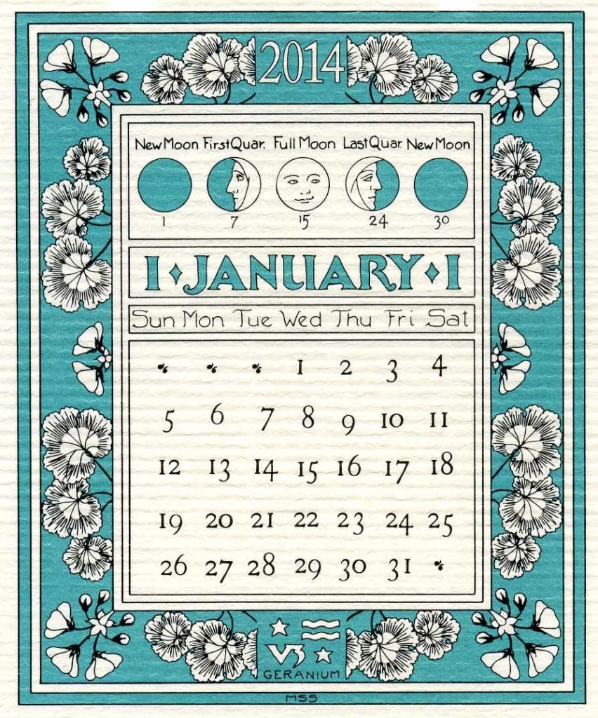 January Calendar 2014 With Holidays Printable January 2014 ring ...