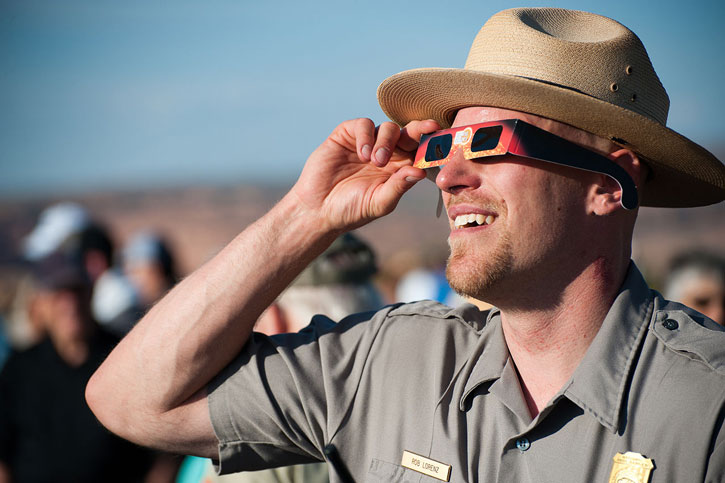Eclipse Viewing at Arches © NPS Photo by Neal Herbert