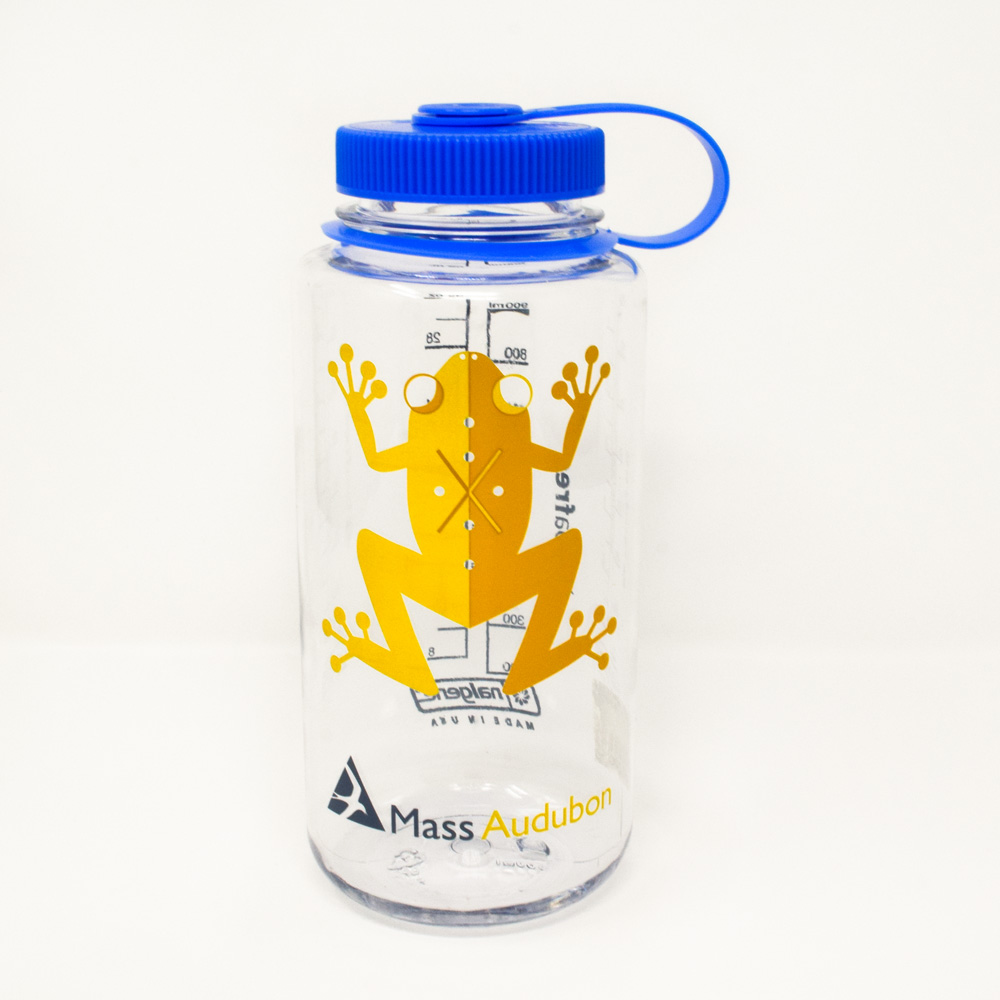 Mass Audubon Nalgene Water Bottle with Spring Peeper