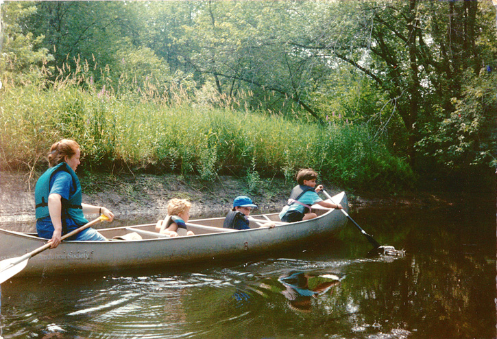 Anne Monnelly Carroll Canoeing at Ipswich River Wildlife Sanctuary