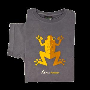 Mass Audubon Frog T-Shirt Unisex Grey