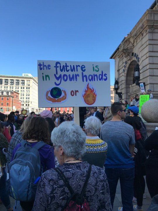 The future is in your hands sign
