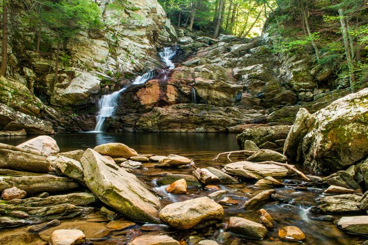 Wahconah Falls in Dalton, MA © JG Coleman