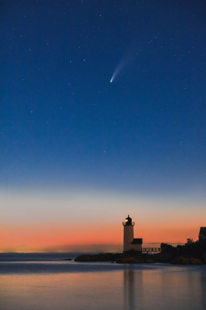 Comet NEOWISE in Gloucester, Winner: Landscapes, 18 and over © Alison Leedham